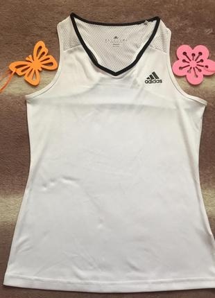 Крутая майка adidas climacool 36\38 белая тениска s\m