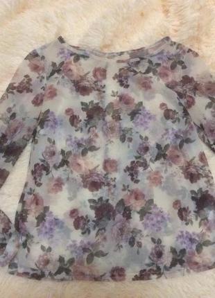 Полу прозрачная блузка на спине вырез