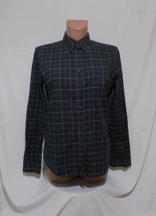 Рубашка сине-зеленая клетчатая 'burberry' 44-46р