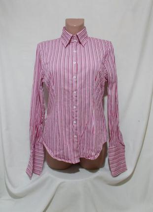 Рубашка яркая полоска под запонки 'hawes & curtis' 'hipster' 48-50р