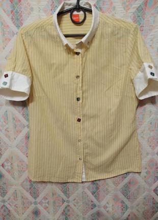 Рубашка в полоску от hugo boss блуза