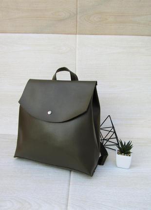 Рюкзак цвета хаки handmade