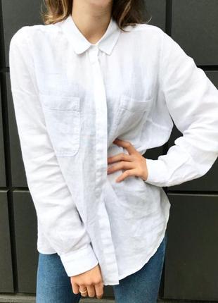 Рубашка белая, льняная