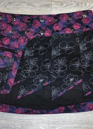 Юбка mapella zand amsterdam  эксклюзивная дизайнерская двусторонняя фиолетовая