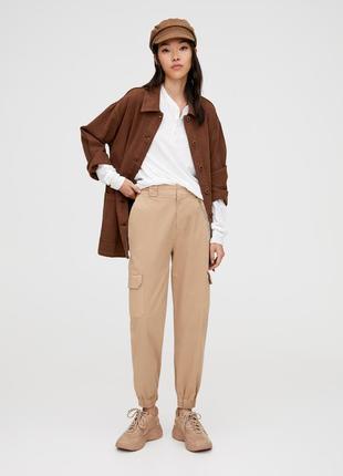 Актуальные карго-брюки с цепью! последняя цена!