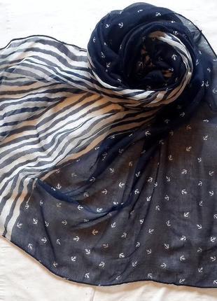 Легкий палантин bershka, весенний шарф-палантин в принт