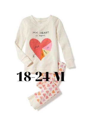 Нереально красивая трикотажная пижама для девочки old navy, размер 18-24