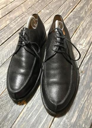 Кожаные туфли uli knecht размер 42 hand made in italy
