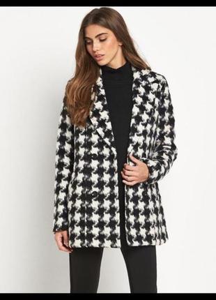 Пальто гусиная лапка классика шашка клетка