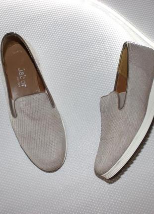Стильные базовые фактурные слипоны из натур. кожи, комфортные красивые туфли на платформе