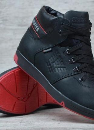 Мужские кожаные зимние ботинки на меху clubshoes