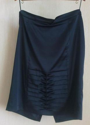 Нарядная атласная классическая юбка, р.52-54