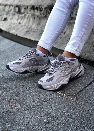 Шикарные женские кроссовки nike m2k tekno grey серые