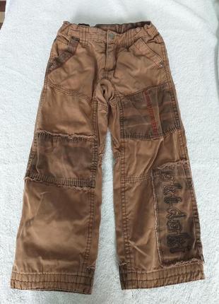 Утеплённые джинсы на х/б подкладке