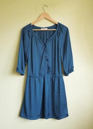 Красивое  нарядное платье бирюзового цвета old navy
