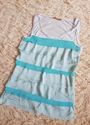 Нежная майка блуза бирюзового цвета zarina