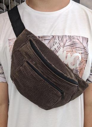 Очень стильная, вместительная сумка на пояс, бананка из вельвета! очень качественная!