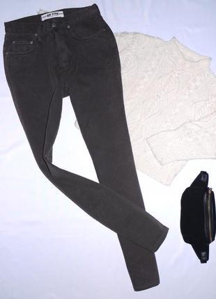 100% cotton плотные mom jeans бананы (узкие ) с высокой посадкой коричневые big star