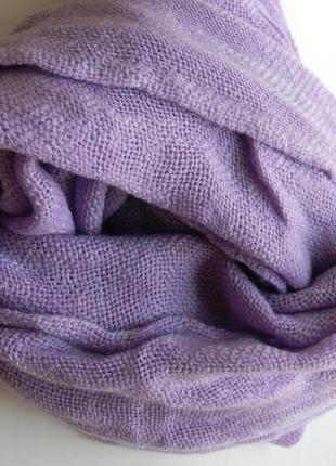 Элитный лавандовый шарф лана франция много расцветок