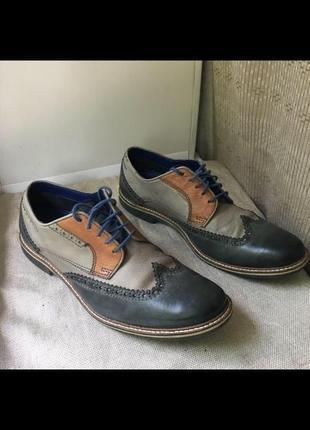Туфли bugatti  кожа броги оксфорды лоферы челси туфлі шкіра