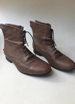 Кожаные сапоги  miss sixty