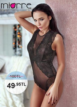 Miorre dark lace bodysuit кружевной боди