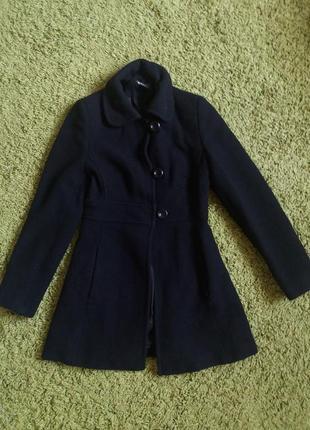 Пальто черное,красивое базовое пальто jane norman