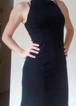 Платье итальянское черное коктейльное вечернее фирмы guarapo s