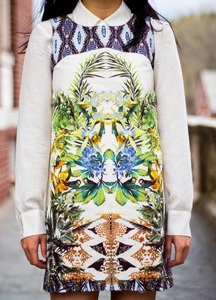 Яркое платье-футляр от zara