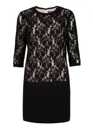 Черное кружевное платье ted baker