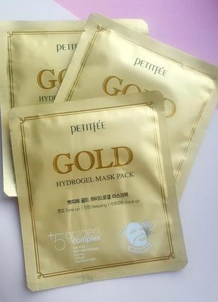 Гидрогелевая маска для лица от petitfee. petitfee gold hydrogel mask pack