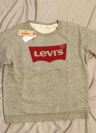Свитшот кофта реглан  модная levi's оригинал м левис levis