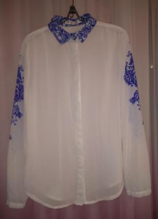 Блузка рубашка оверсайз вишиванка