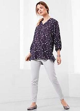 Блуза-туника из мягкого текучего жоржета тсм tchibo германия
