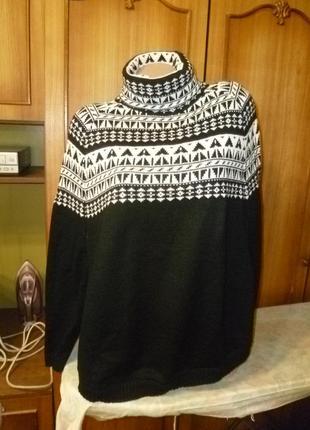 Классный теплющий вязаный свитер-пончо-оверсайз,холодная осень-зима,в идеале