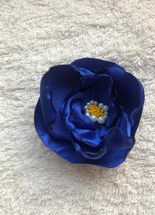 Синие цветы ручной работы 5 шт hand made