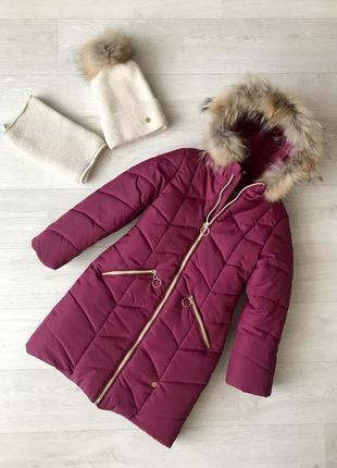 Теплейшиее зимнее пальто для девочки