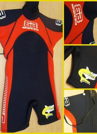Banana bite  гидрокостюм 2-4 года гідрокостюм термо купальный костюм