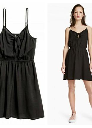 Вискозное платье с завязкой h&m, 52 размер.