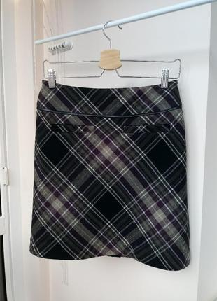 Шерстяная юбка в клетку от marks&spenser