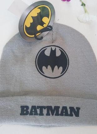 Шапка для мальчика batman, бэтмен