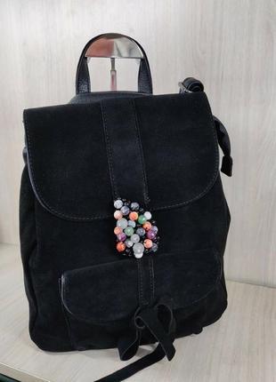 Рюкзак натуральный замш