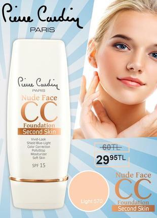 Pierre cardin nude face cc cream (spf 15) - cc крем - светлый