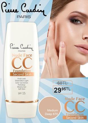 Pierre cardin nude face cc cream (spf 15) - сс крем -глубокий