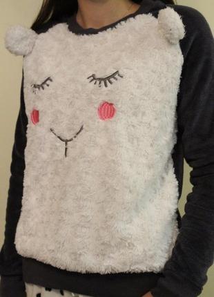 Кофта пижамная, кофточка для дома мишутка на размер s