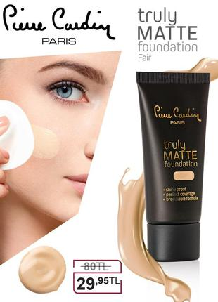 Pierre cardin truly matte foundation - телесный