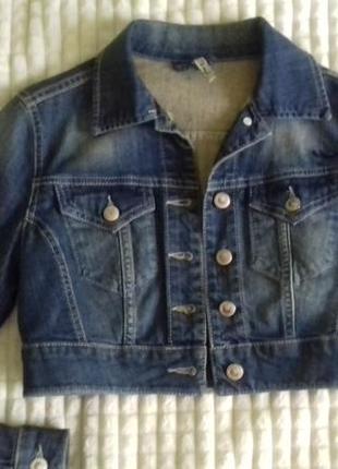 Укороченная джинсовая курточка ltb на xs-s