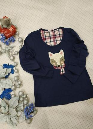 Кофта пижамная, кофточка для дома лисенок на размер s-m camille