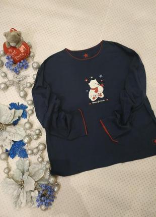 Кофта пижамная, кофточка для дома хлопковая на размер xl-xxl