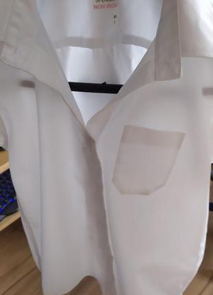 Белая рубашка на мальчика marks&spencer